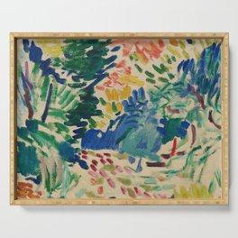 Landscape at Collioure - Henri Matisse - Exhibition Poster Serving Tray