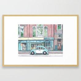 Blue Bug Framed Art Print