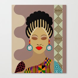African Queen III Canvas Print