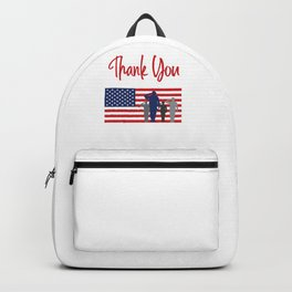 Thank You For Your Service Patriotic Veteran Backpack