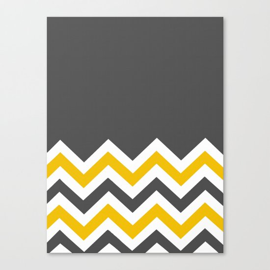 Color Blocked Chevron 14 Canvas Print