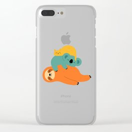 Being Lazy Clear iPhone Case