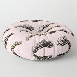 Blush pink - glam lash design Floor Pillow
