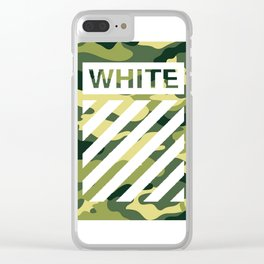 off white army camo Clear iPhone Case