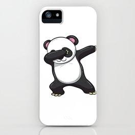 Dabbing Panda Shirt Bear Funny Dab Men Kids Gift iPhone Case