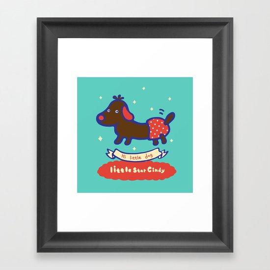 Little baby dog Framed Art Print