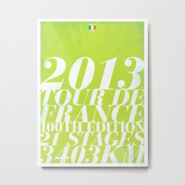 2013 Tour de France: Sprint!  Metal Print