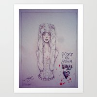 there will be blood Art Prints featuring Blood. by n_ist