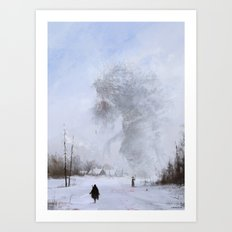 another day at work... Ded Moroz Art Print