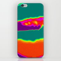 hamburger iPhone & iPod Skins featuring Psychedelic Hamburger by Tanella
