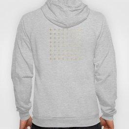 Gold Geometric Swiss Cross Pattern Hoody