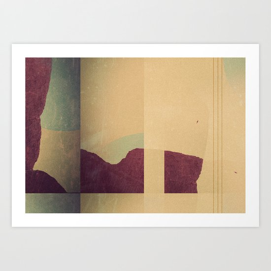 Mountains Lines Art Print