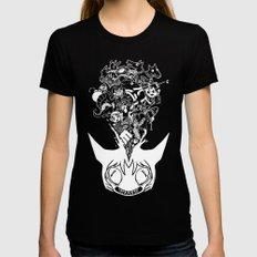 Exploding Head Syndrome MEDIUM Womens Fitted Tee Black