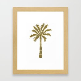 Gold Palm Tree Framed Art Print