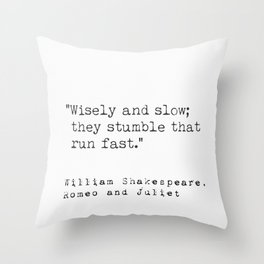 William Shakespeare, Romeo and Juliet Throw Pillow