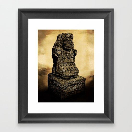 La Cuatlicue Framed Art Print
