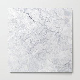 White Marble 001 Metal Print