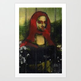 Red Mona  Art Print