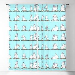 Bunnies Yoga Blackout Curtain