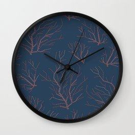 Embroidered сorals Wall Clock
