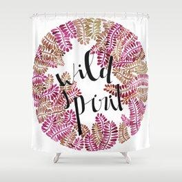 Wild spirit message pink palette Shower Curtain