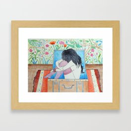 Paisaje interior Framed Art Print