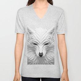White Wolf Unisex V-Neck
