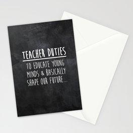 Teacher Duties Stationery Cards