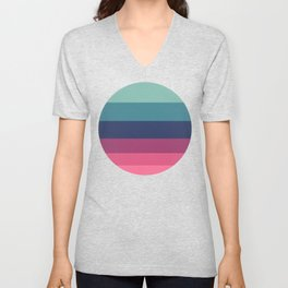 Green & Red Complementary Color Palette Unisex V-Neck