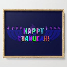 Chanukah Greeting Serving Tray