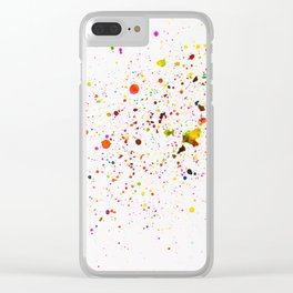 RAINBOW INK SPLOTCHES Clear iPhone Case