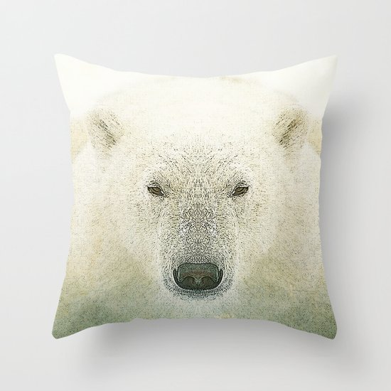 King of the north Throw Pillow