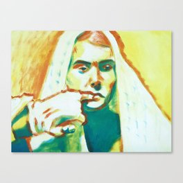 The Franciscan Padre as Painted-Up Mary Canvas Print