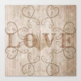 love woodwork Canvas Print