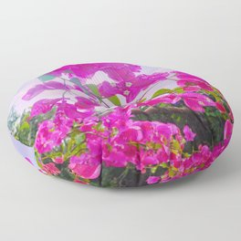 Pink Bougainville Floor Pillow