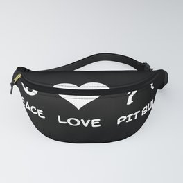 Peace, Love, Pit Bull Fanny Pack