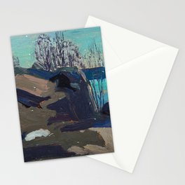 Tom Thomson - Nocturne - Canada, Canadian Oil Painting - Group of Seven Stationery Cards