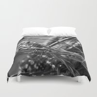 the wire Duvet Covers featuring Barbed Wire by Fine2art
