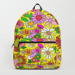 60's Lovers Floral in Sunshine Yellow Backpack