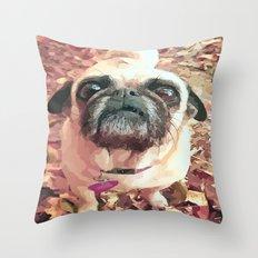 Pug Love ~ In Delilah's Eyes Throw Pillow