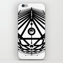 Radiant Abundance (white-black) iPhone Skin
