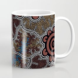 Water Lilly Dreaming - Authentic Aboriginal Art Coffee Mug
