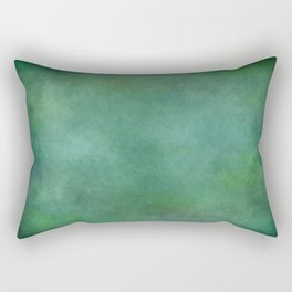 Looking into the depths of green Rectangular Pillow