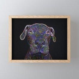 Cosmic pittbull Framed Mini Art Print
