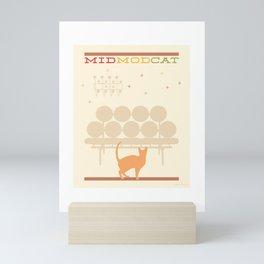 Mid Mod Cat Mini Art Print