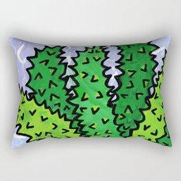 Succulent in Yellow Bowl Rectangular Pillow