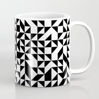 triangles Mugs featuring TRIANGLES by THE USUAL DESIGNERS