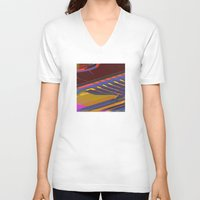 data V-neck T-shirts featuring Data Path by dBranes