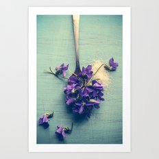 Sweet Violets Art Print