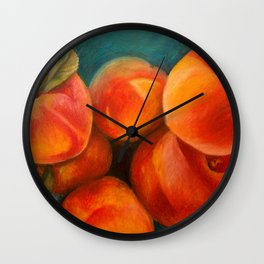 Round Peach Wall Clock
